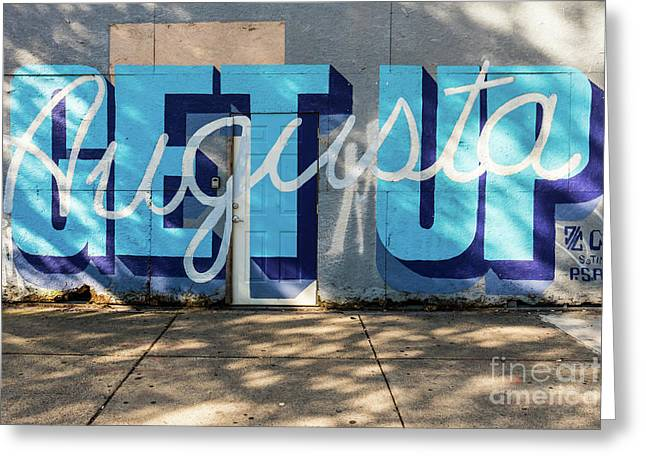 Get Up Augusta Ga Mural  Greeting Card