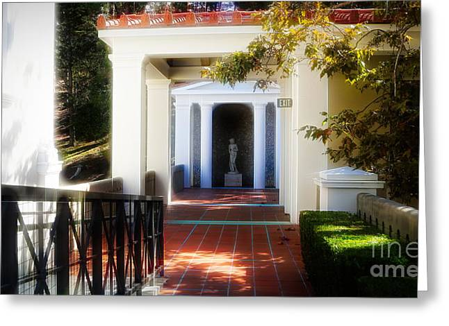 Getty Exterior Landscape Architecture  Greeting Card