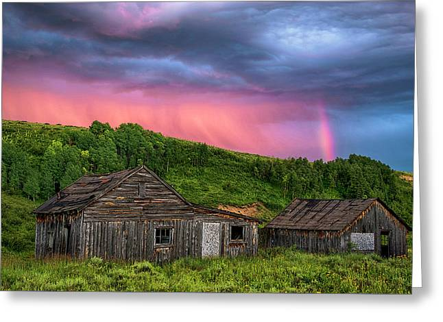 Ghost Town Sunset 3 Greeting Card