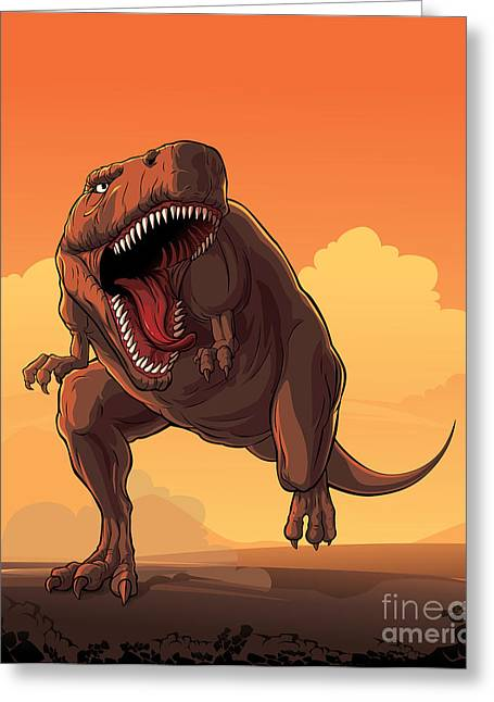 Giant Prehistoric Monster Of Dinosaur Greeting Card