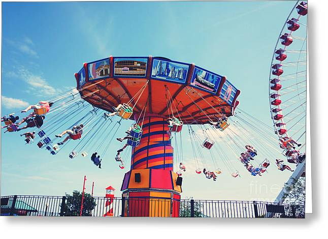 Giant Swing In Summer Greeting Card