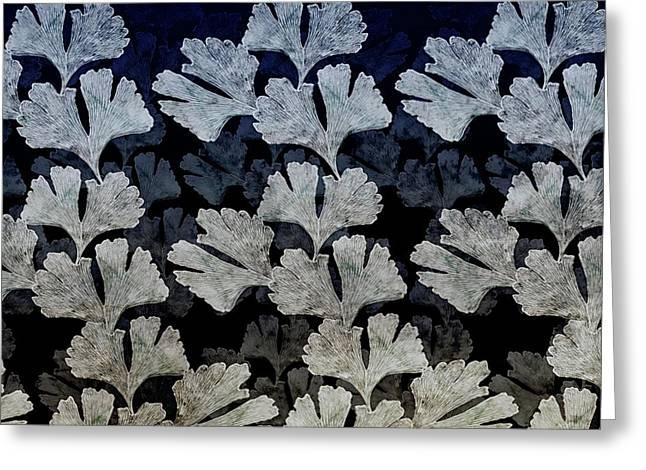 Ginko Leaf Pattern Greeting Card