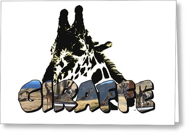 Giraffe Big Letter Greeting Card
