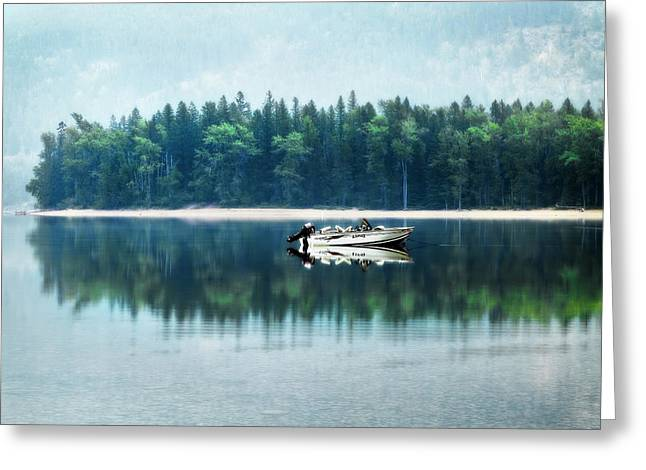 Glacier National Park Lake Reflections Greeting Card