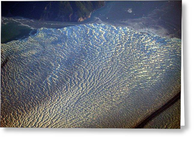 Glacier Texture Greeting Card