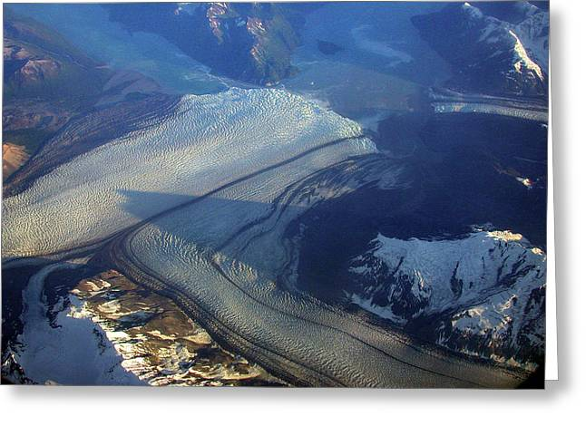 Glaciers Converge Greeting Card