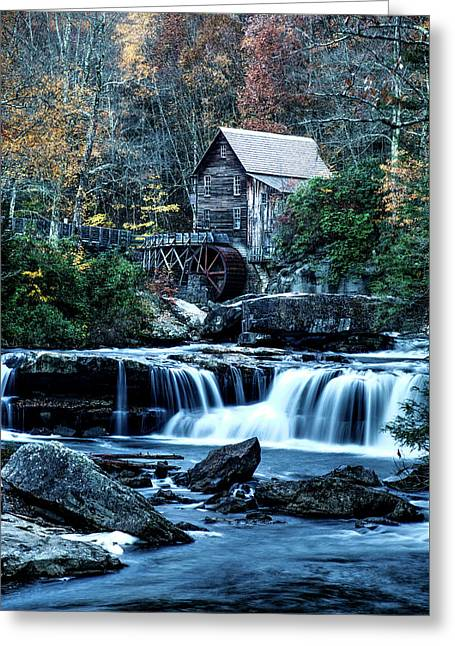 Greeting Card featuring the photograph Glade Creek Grist Mill by Pete Federico