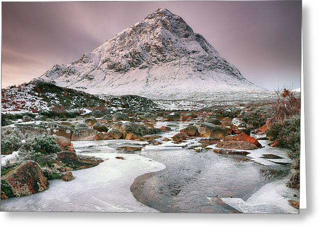 Greeting Card featuring the photograph Glencoe Winter - Square by Grant Glendinning