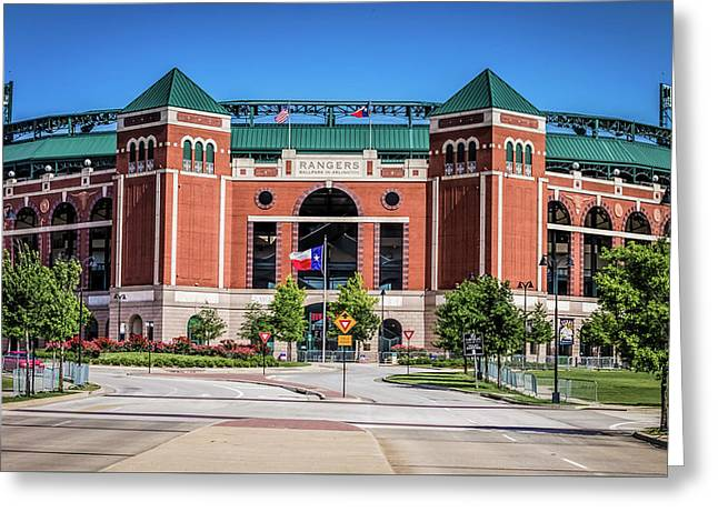 Greeting Card featuring the photograph Globe Life Park In Arlington by Robert Bellomy