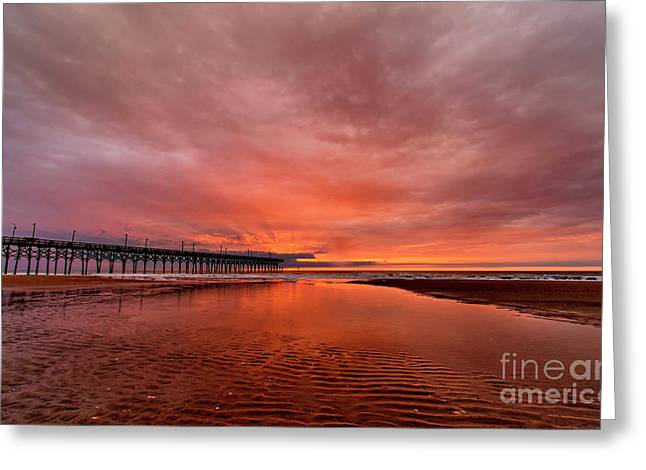 Greeting Card featuring the photograph Glowing Sunrise by DJA Images