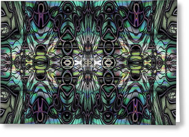 Greeting Card featuring the digital art Glyph by Kiki Art