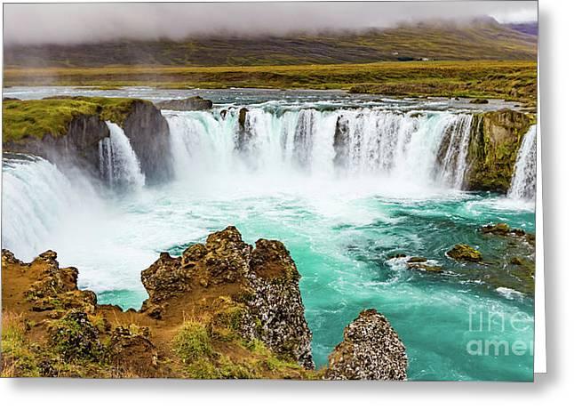 Godafoss Waterfall, Iceland Greeting Card