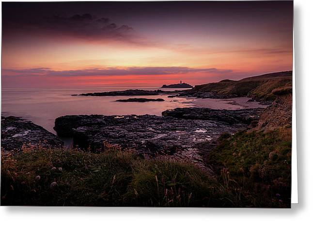 Godrevy Sunset - Cornwall Greeting Card