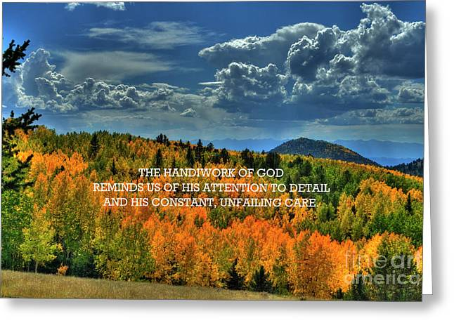 God's Handiwork Greeting Card