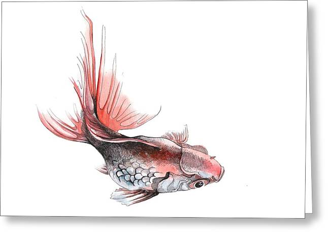 Gold Fish Greeting Card