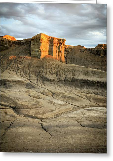 Golden Badlands Greeting Card by Johnny Adolphson