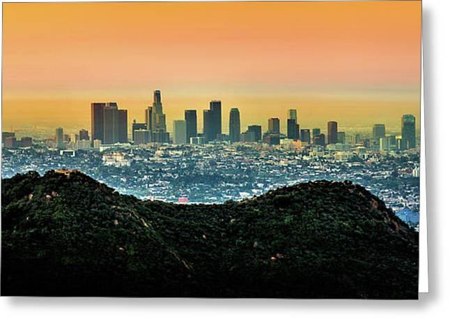 Golden California Sunrise Greeting Card