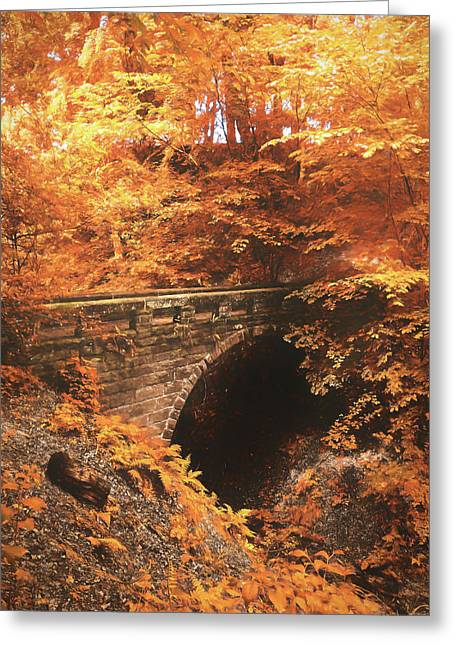 Golden Crossing Greeting Card