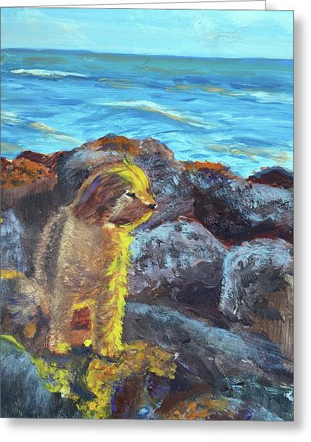 Golden Dog Greeting Card
