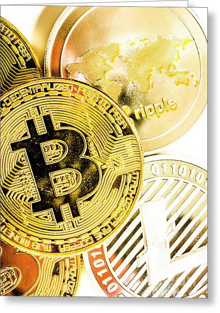 Golden Exchange Greeting Card