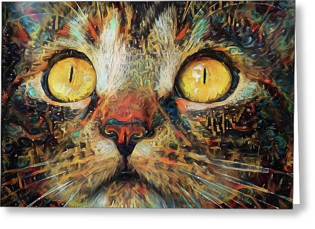 Golden Eyes Dreaming Greeting Card