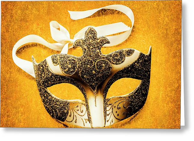 Golden Gala Greeting Card