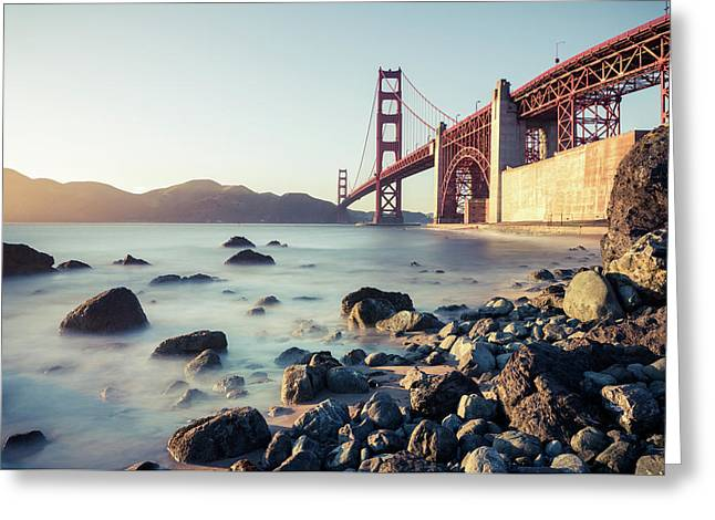 Greeting Card featuring the photograph Golden Gate Bridge by Nicole Young
