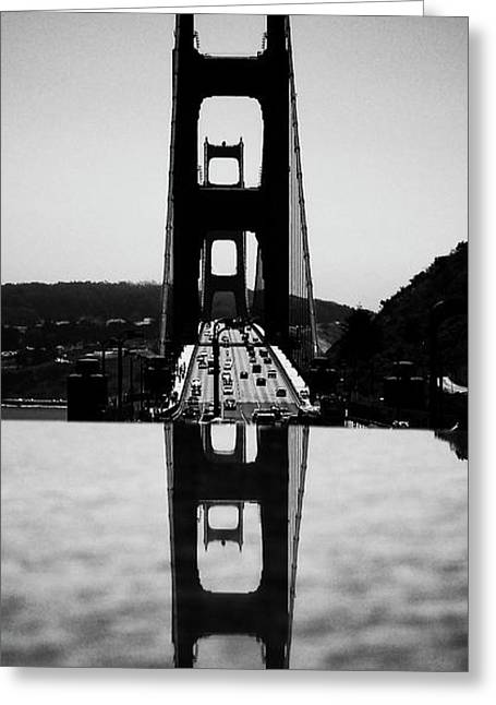 Golden Gate Reflection Greeting Card