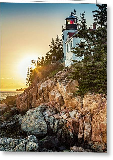 Golden Hour In Acadia Greeting Card