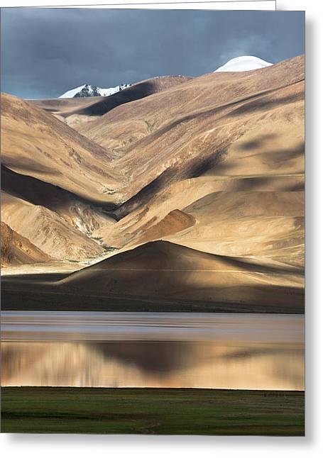 Golden Light Tso Moriri, Karzok, 2006 Greeting Card