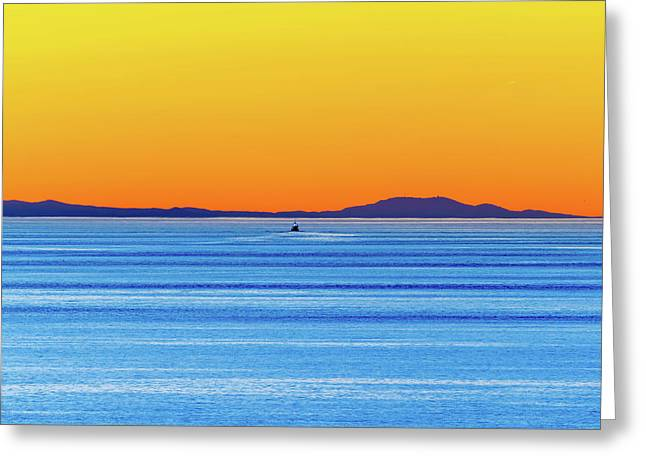 Golden Sunset Series I I Greeting Card