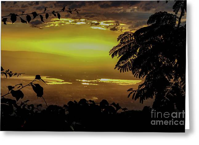Golden Sunset On Strawberry Hill Greeting Card