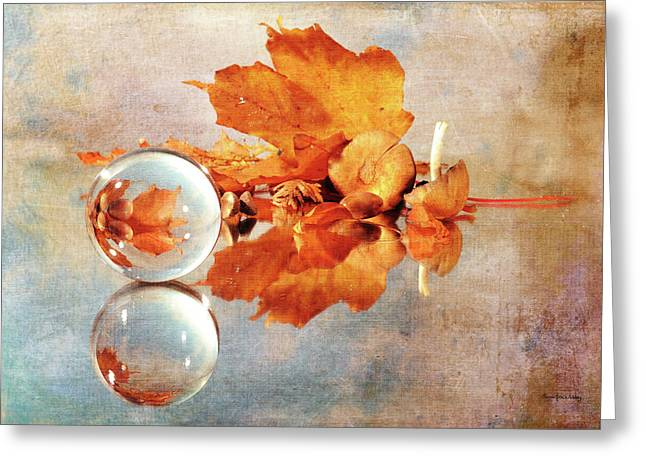 Greeting Card featuring the photograph Golden Tones Of Fall by Randi Grace Nilsberg