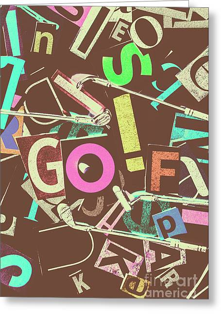 Golfing Print Press Greeting Card
