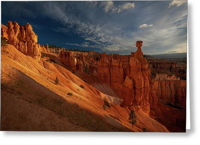 Greeting Card featuring the photograph Good Morning Bryce by Edgars Erglis