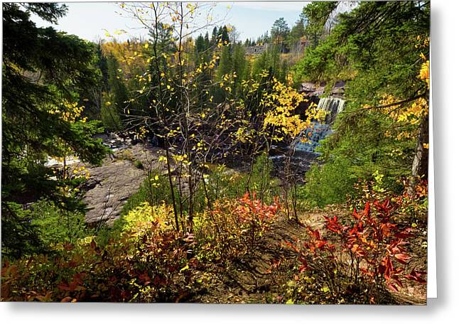 Gooseberry Falls From Above Greeting Card