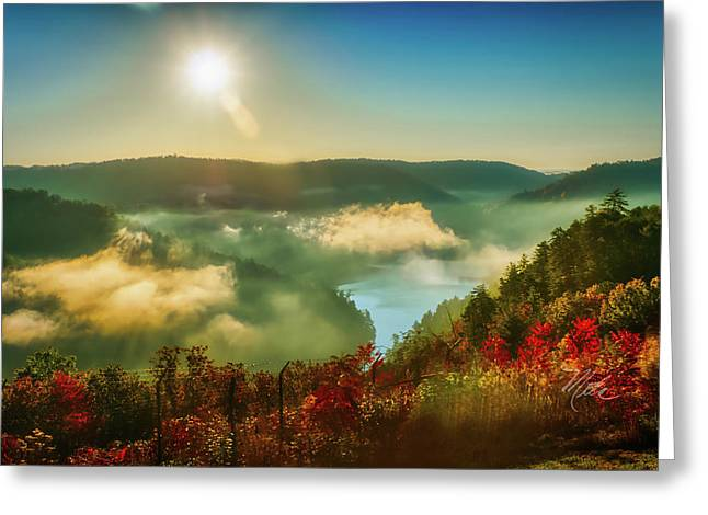 Greeting Card featuring the photograph Gorge Sunrise by Meta Gatschenberger