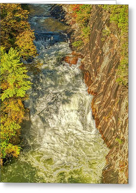 Greeting Card featuring the photograph Gorge Waterfall by Meta Gatschenberger