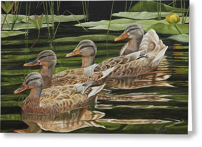 Got My Ducks In A Row Greeting Card