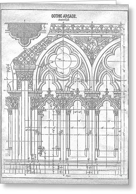 Gothic Arches Greeting Card