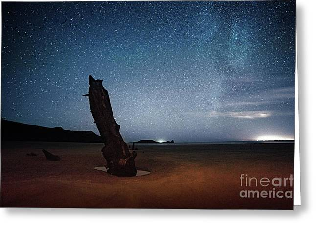 Gower Helvetia At Night  Greeting Card