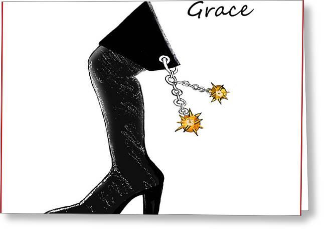 Grace Wall Art Greeting Card