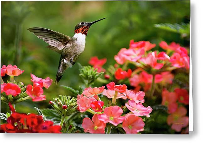 Graceful Garden Jewel Greeting Card