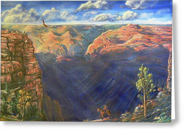 Grand Canyon And Mather Point Greeting Card