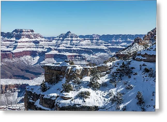 Grand Canyon Snow Greeting Card