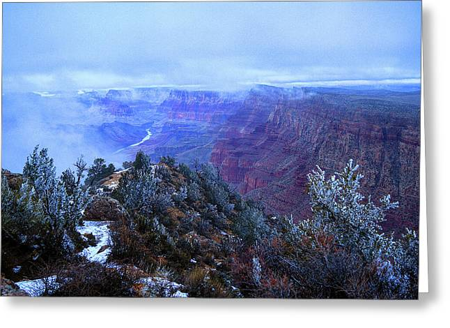 Grand Canyon Winter Scene Greeting Card