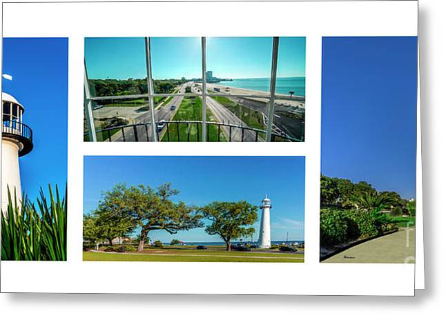 Grand Old Lighthouse Biloxi Ms Collage A1a Greeting Card