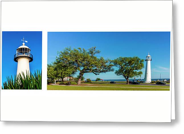 Grand Old Lighthouse Biloxi Ms Collage A1e Greeting Card