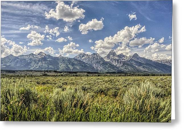 Grand Teton And Wyoming Skies Greeting Card