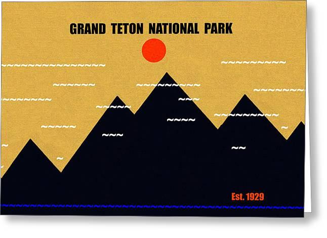 Grand Teton N. P. M Series Greeting Card